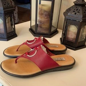 Brighton Red Sandals - 9